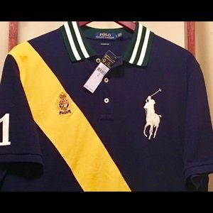 New Polo Ralph Lauren embroidered  Polo Shirt. Lg